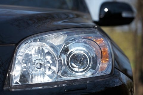 Black Sedan Headlight