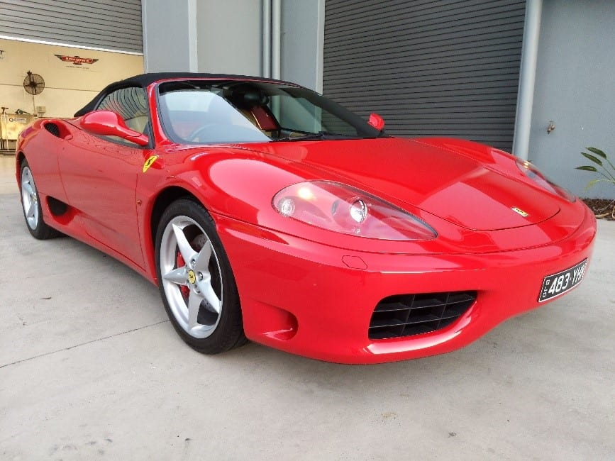 Ferrari 360 with ceramic paint protection