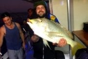 Overnight Fishing Charter Success with a large Grassie aboard Crusader 1