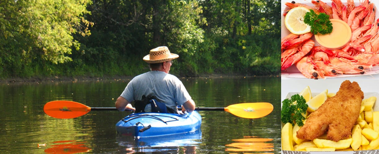 Guided Kayak Safari – Lunch and Twilight, with Seafood
